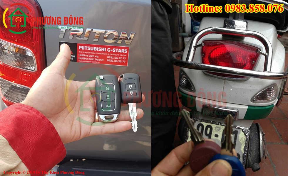 Thợ khóa Phương Đông đã đánh chìa khóa thành cho khách hàng tại Bắc Ninh