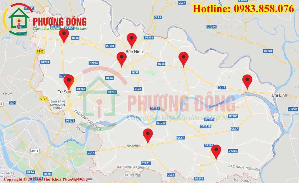 Địa chỉ thợ sửa khóa lưu động tại Bắc Ninh