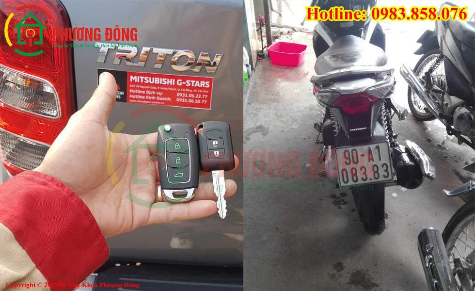 Thợ khóa Phương Đông đã đánh chìa khóa thành cho khách hàng tại Hà Nam