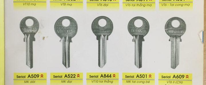Bán phôi chìa khóa Xe Cửa Tủ Két Giá Đại Lý toàn quốc