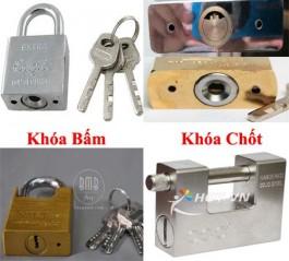 khóa bấm - khóa chốt cửa