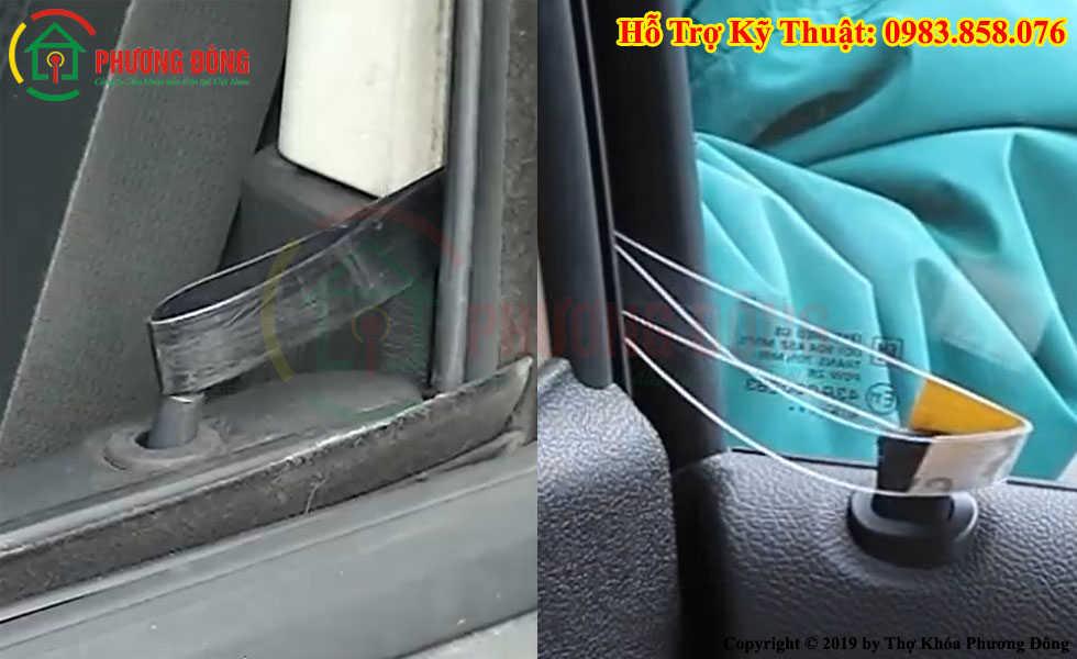 Cách mở cửa xe ô tô bằng thanh nhựa mỏng