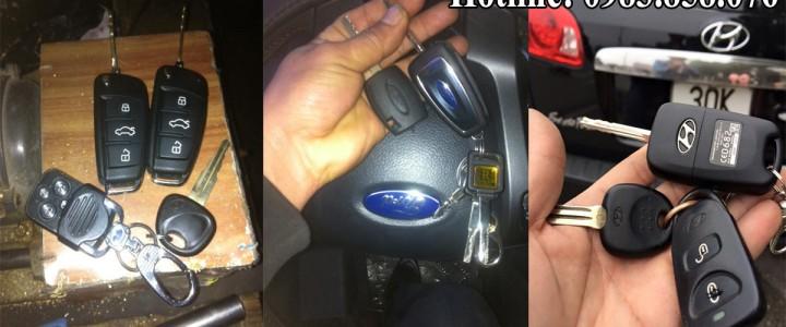 Độ làm chìa khóa ô tô liền điều khiển từ xa chuyên nghiệp