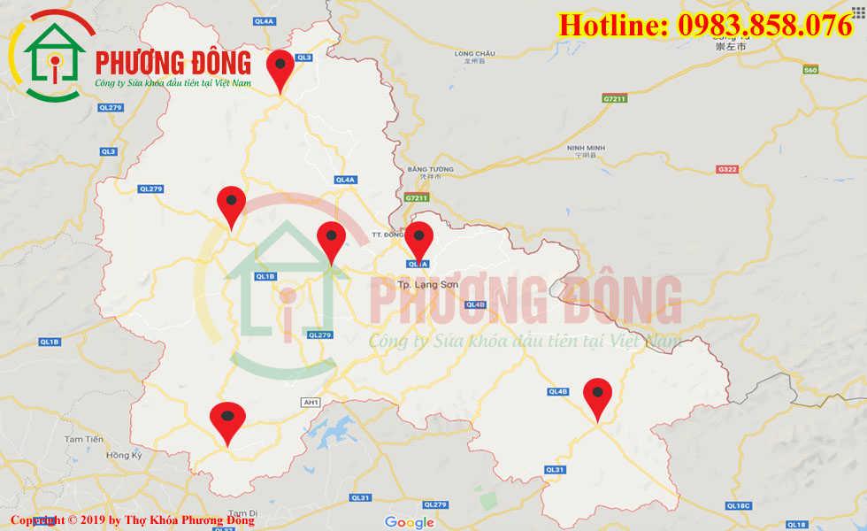 Địa chỉ thợ sửa khóa lưu động tại Lạng Sơn