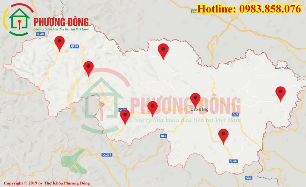 Địa chỉ thợ sửa khóa lưu động tại Cao Bằng