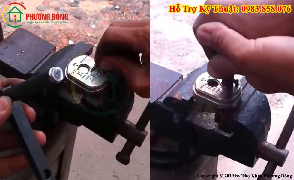 Cách mở nắp khóa từ xe máy honda