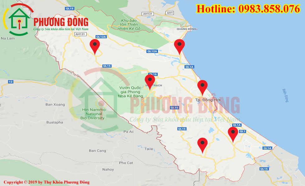 Địa chỉ thợ sửa khóa lưu động tại Quảng Bình