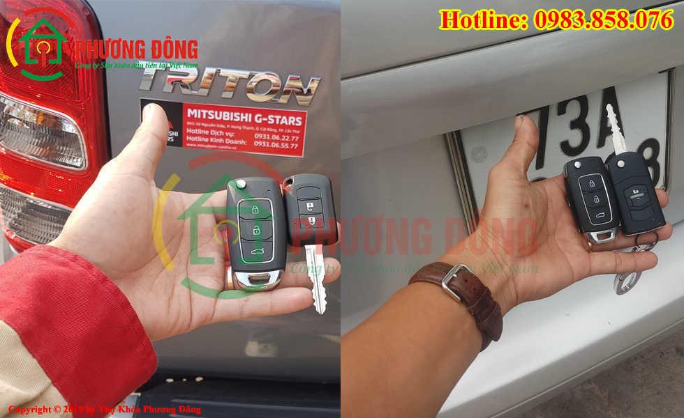 Thợ khóa Phương Đông đã đánh chìa khóa thành cho khách hàng tại Quảng Bình