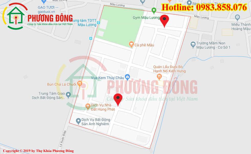 Địa chỉ thợ sửa khóa lưu động tại KĐT Mậu Lương