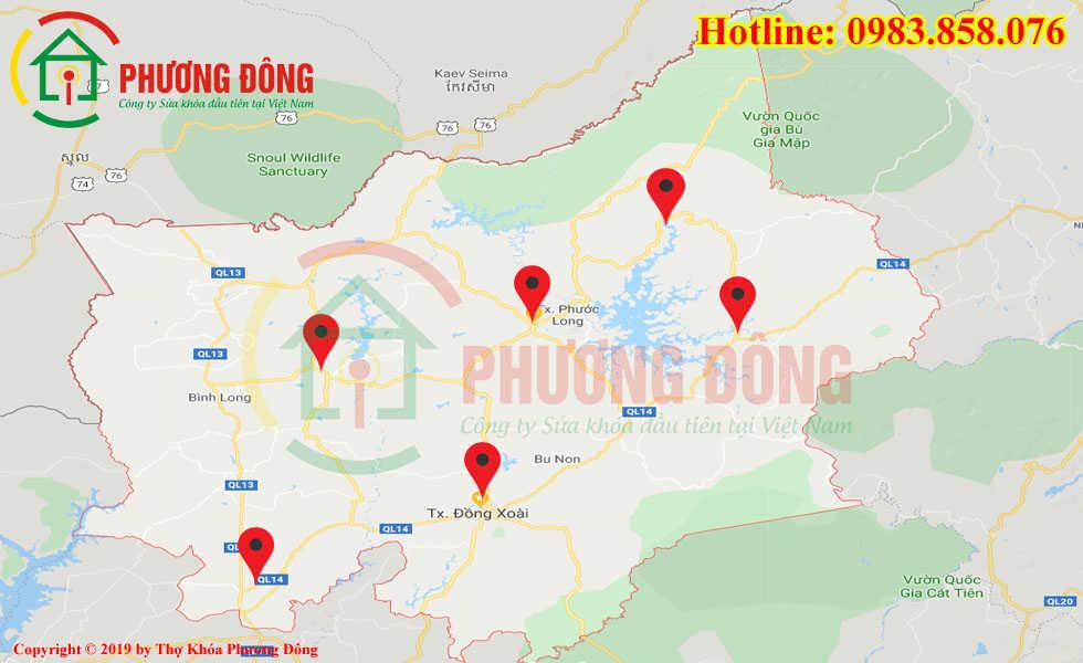 Địa chỉ thợ sửa khóa lưu động tại Bình Phước