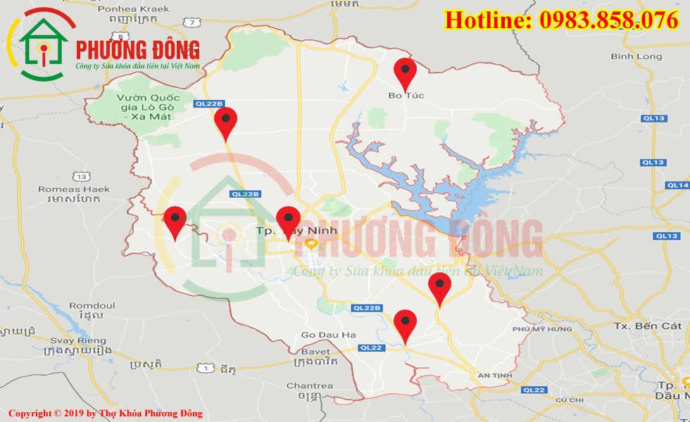 Địa chỉ thợ sửa khóa lưu động tại Tây Ninh