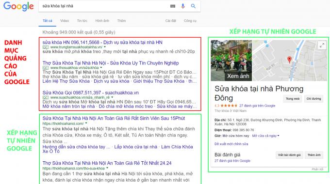 Website Thu Hang Cao Trong Google