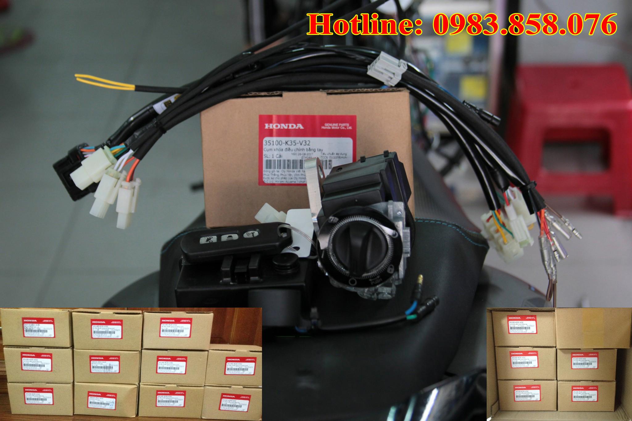 Lắp khóa Smartkey Honda