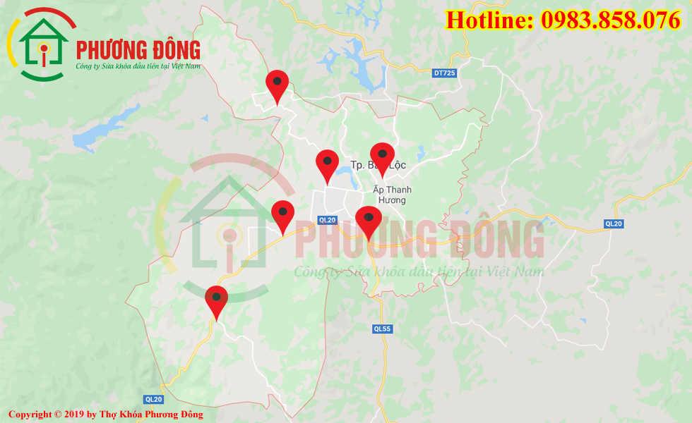 Địa chỉ thợ sửa khóa lưu động tại Bảo Lộc