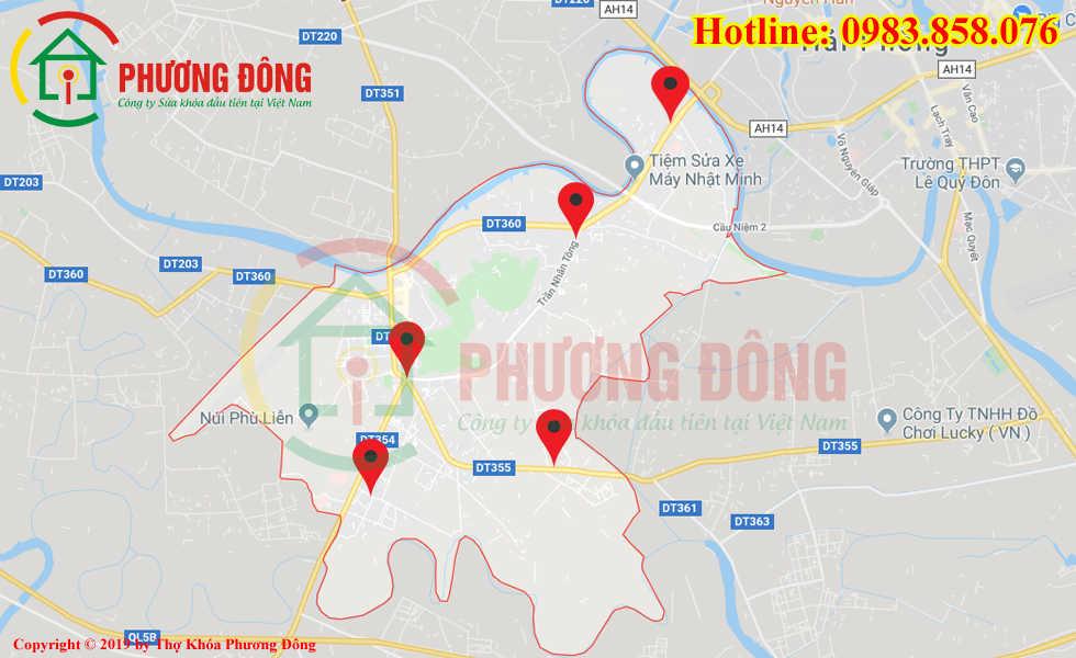 Địa chỉ thợ sửa khóa lưu động tại Kiến An