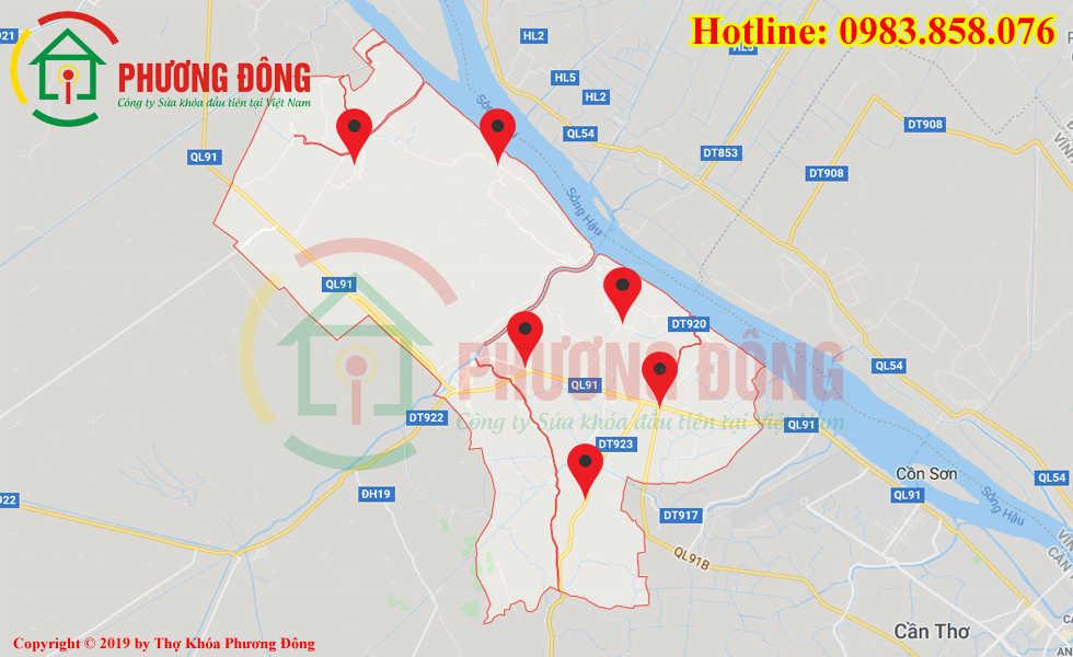 Địa chỉ thợ sửa khóa lưu động tại Ô Môn