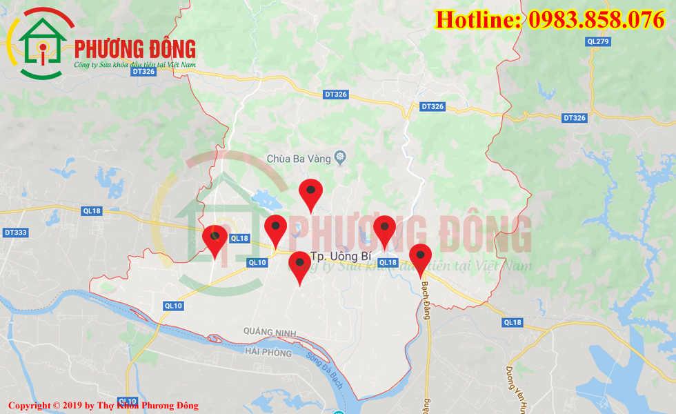 Địa chỉ thợ sửa khóa lưu động tại Uông Bí
