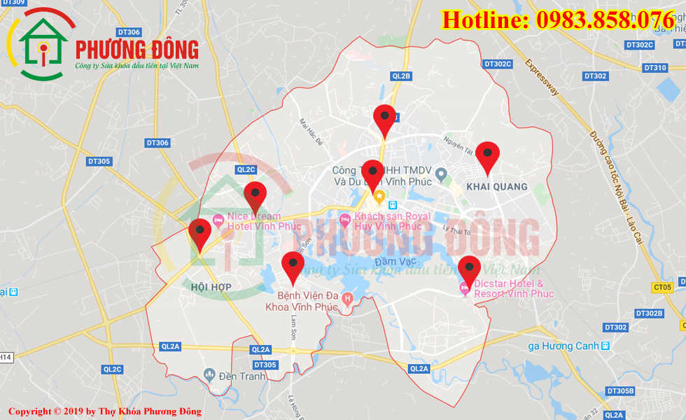 Địa chỉ thợ sửa khóa lưu động tại Vĩnh Yên