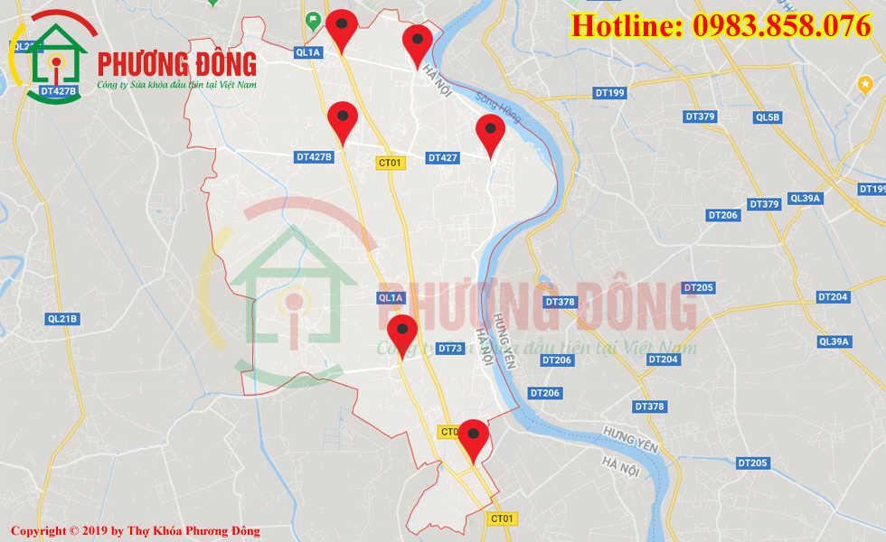 Địa chỉ thợ sửa khóa lưu động tại huyện Thường Tín