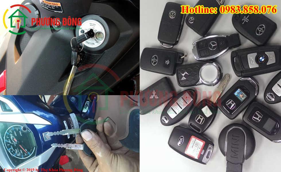 Phương Đông sửa tất cả các loại khóa xe tại huyện Thường Tín