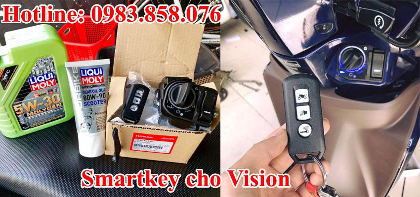 Thay khóa xe máy Vision Smartkey