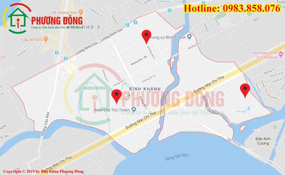 Địa chỉ thợ sửa khóa lưu động tại Bình Khánh