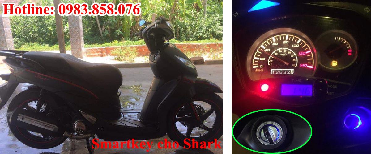 Thay ổ khóa xe Shark loại Smartkey