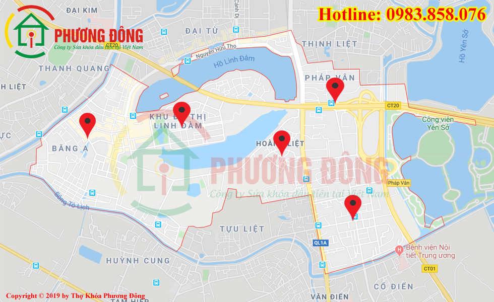 Địa chỉ thợ sửa khóa lưu động tại Phường Hoàng Liệt