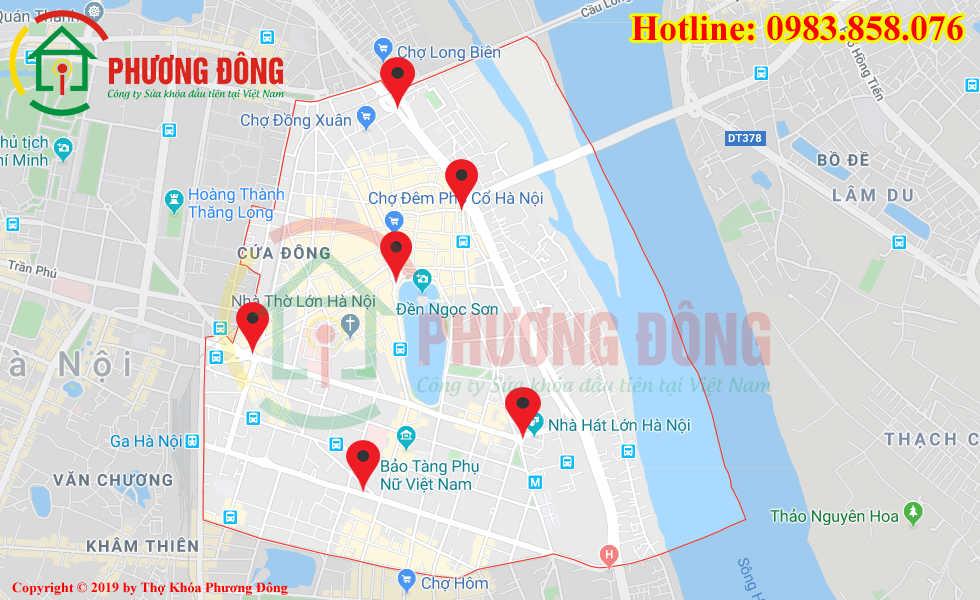 Địa chỉ thợ sửa khóa lưu động tại Quận Hoàn Kiếm