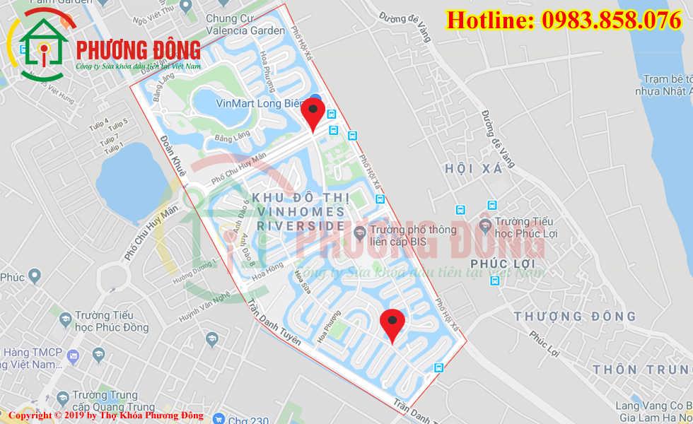 Địa chỉ thợ sửa khóa lưu động tại KĐT Vinhomes Riverside