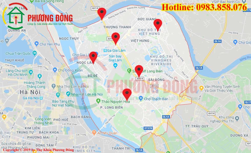 Địa chỉ thợ sửa khóa lưu động tại Quận Long Biên