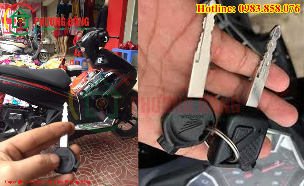 Phương Đông chuyên sửa khóa xe máy tại Phường Cầu Dền