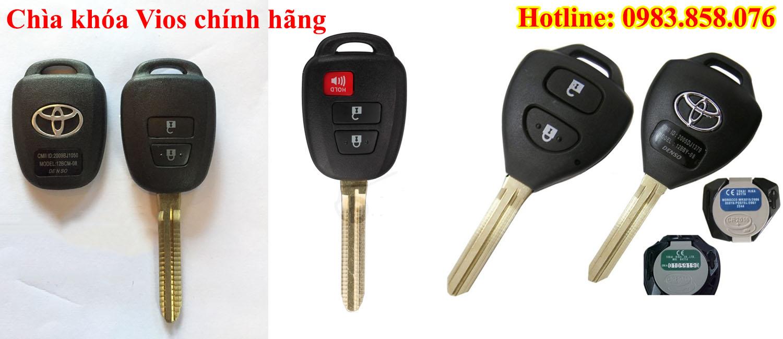 Mẫu chìa khóa xe Vios chính hãng