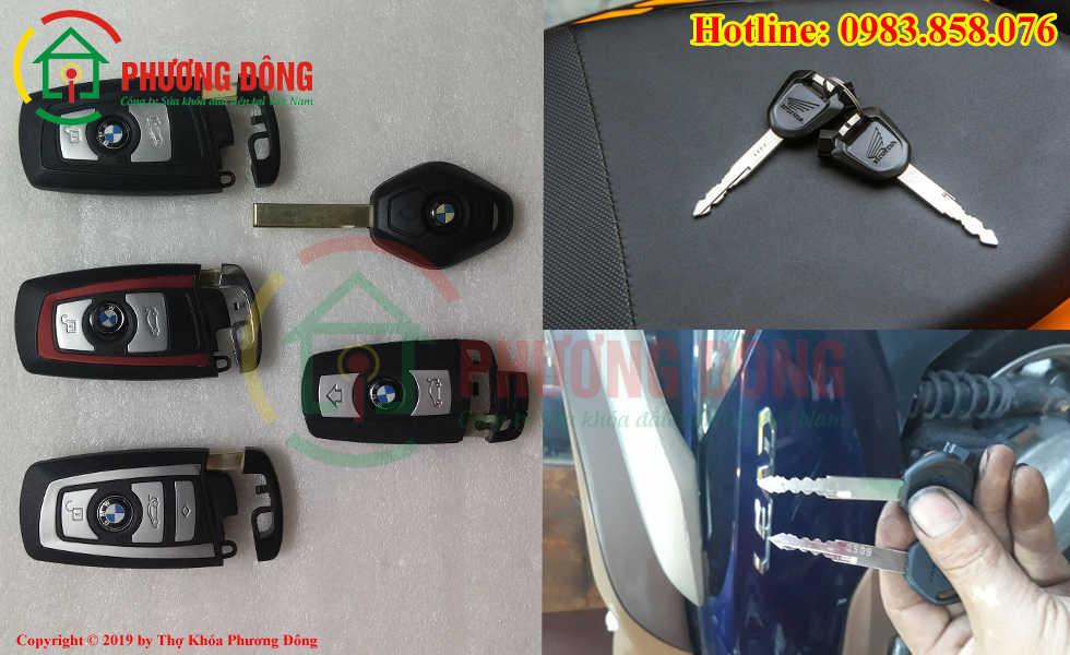 Phương Đông sửa tất cả các loại khóa xe tại Cổ Nhuế