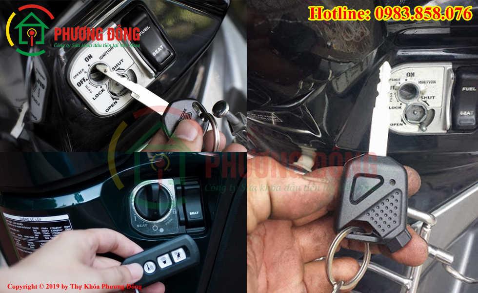 Phương Đông chuyên sửa khóa xe máy tại Quận Long Biên