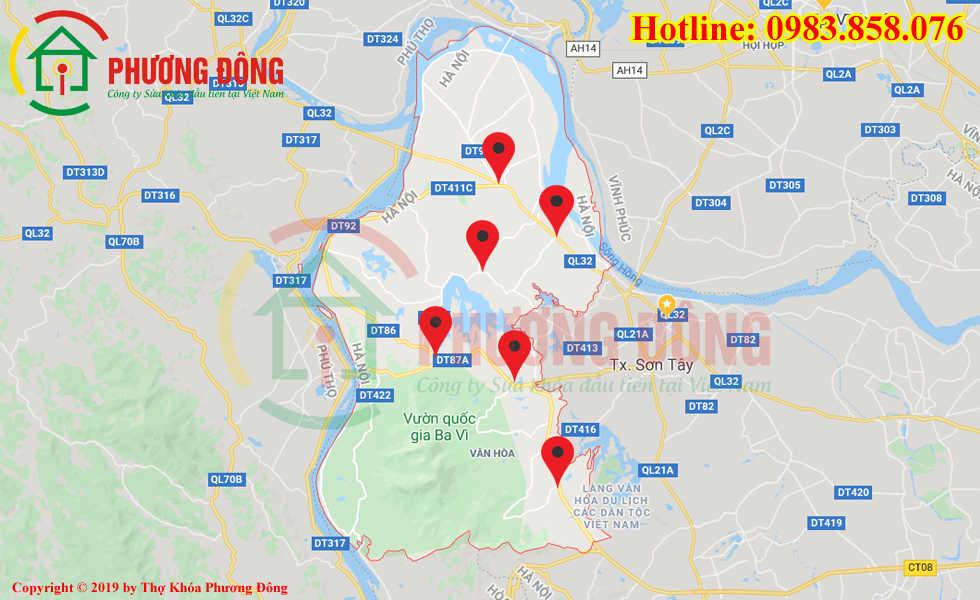 Địa chỉ thợ sửa khóa lưu động tại huyện Ba Vì