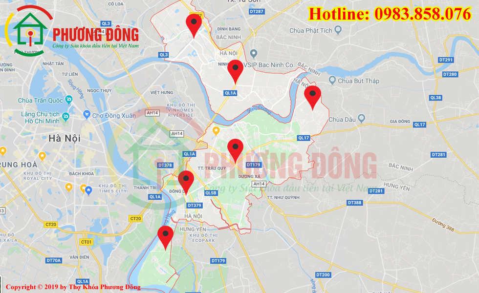 Địa chỉ thợ sửa khóa lưu động tại huyện Gia Lâm