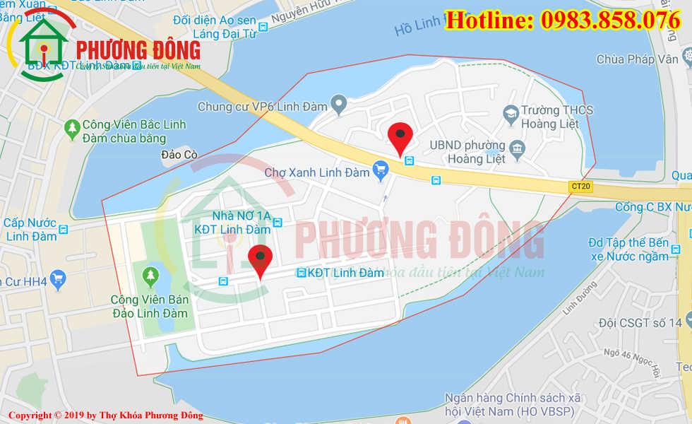Địa chỉ thợ sửa khóa lưu động tại KĐT Linh Đam