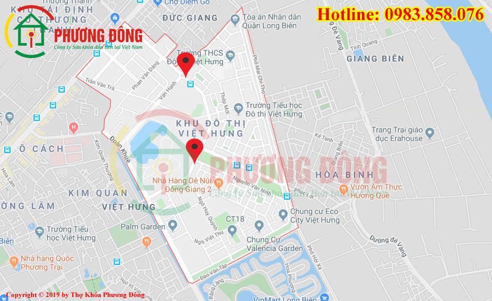 Địa chỉ thợ sửa khóa lưu động tại KĐT Việt Hưng