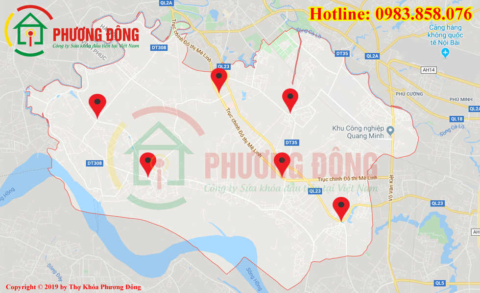 Địa chỉ thợ sửa khóa lưu động tại huyện Mê Linh
