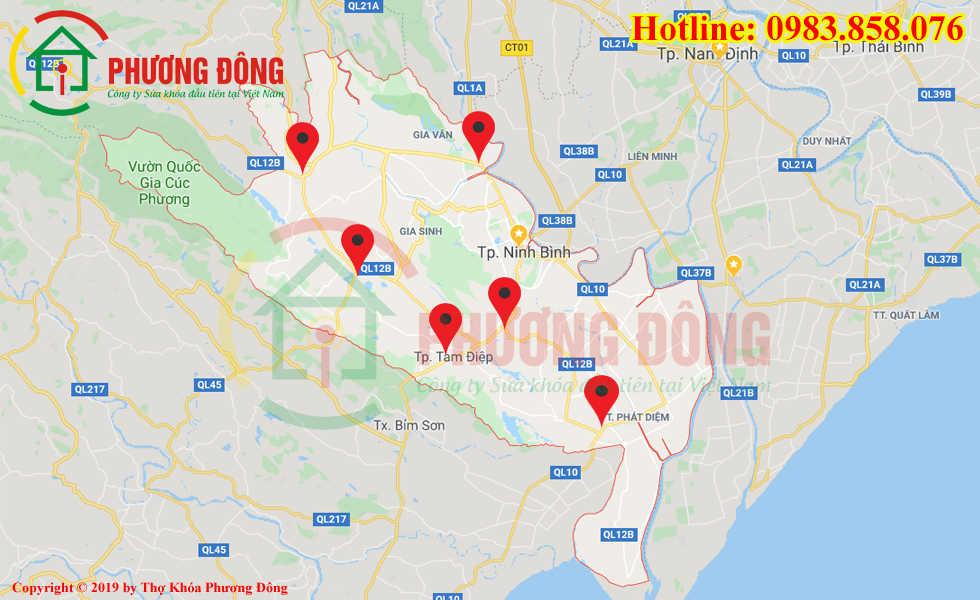 Địa chỉ thợ sửa khóa lưu động tại Ninh Bình