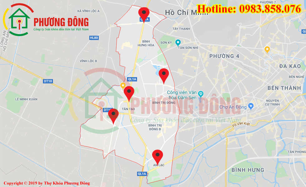 Địa chỉ thợ sửa khóa lưu động tại Quận Bình Tân