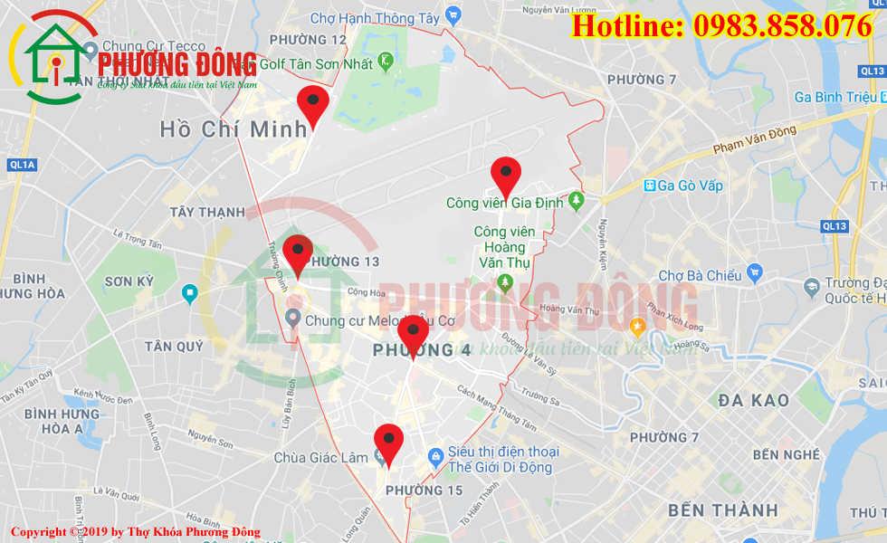 Địa chỉ thợ sửa khóa lưu động tại Quận Tân Bình