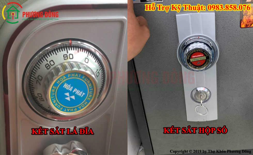 Phân biệt két sắt hộp số và két sắt lá đĩa 4 mã số