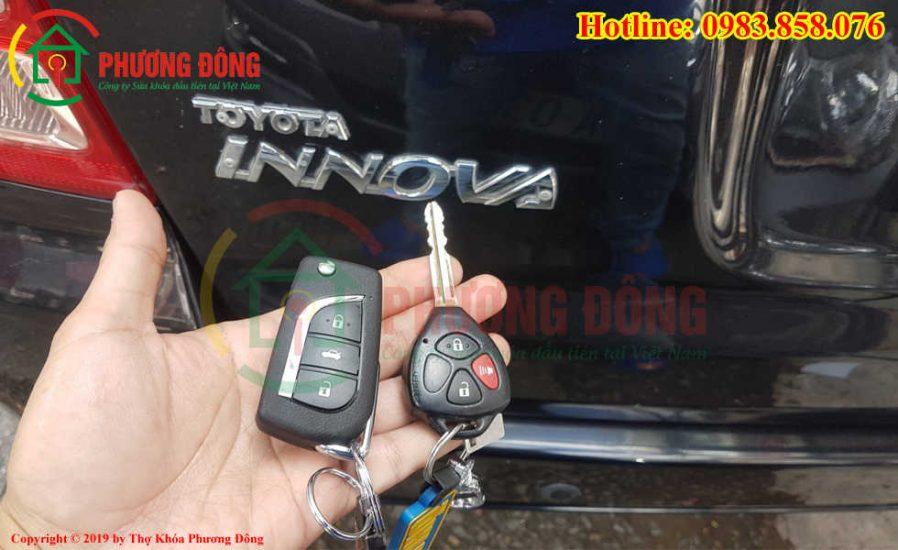 Làm chìa gập cho xe Inova tại đồng nai