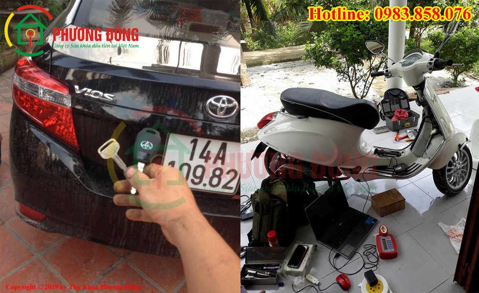 Thợ khóa Phương Đông đã đánh chìa khóa thành cho khách hàng tại Quảng Ninh