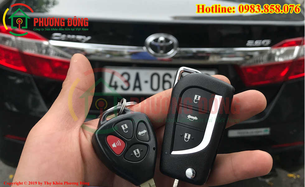 Làm chìa khóa xe ô tô tại Đà Nẵng