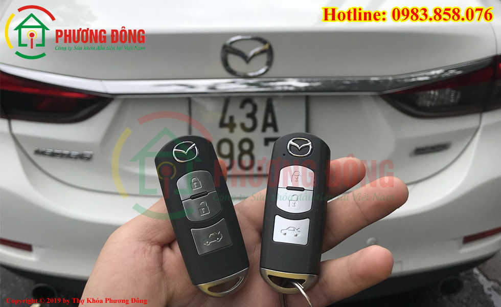 Làm chìa khóa xe ô tô bị mất hết chìa tại Đà Nẵng