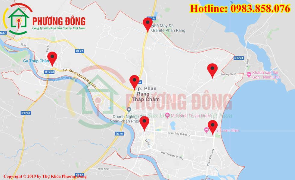 Địa chỉ thợ sửa khóa lưu động tại Tp Phan Rang - Tháp Chàm