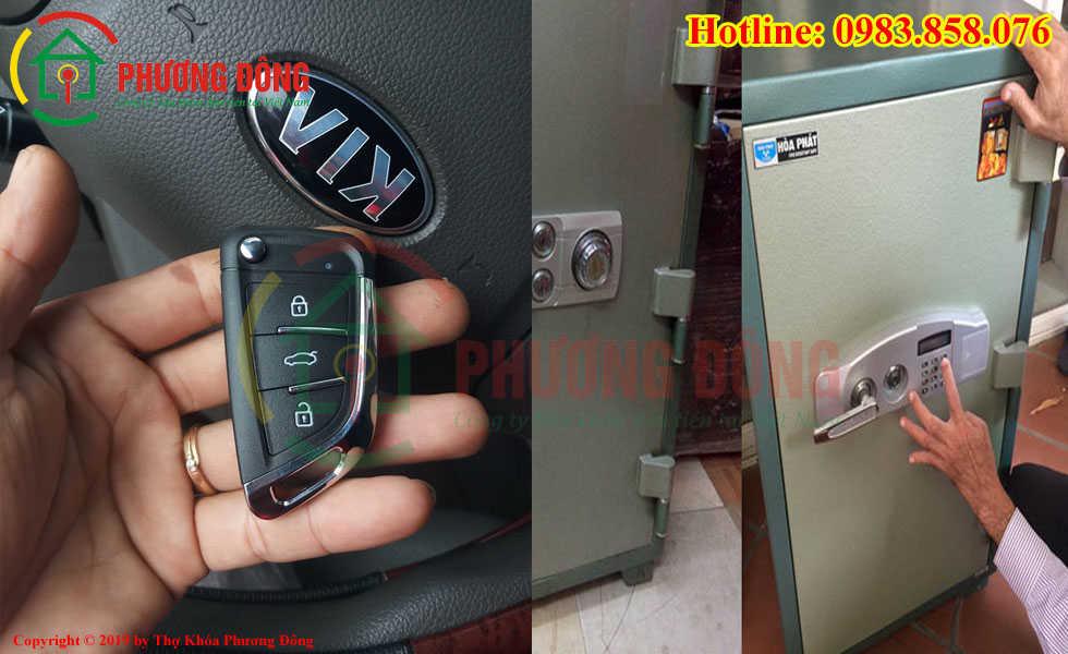 Lấy lại mã két sắt và sao chép khóa ô tô cho khách tại Quảng Bình